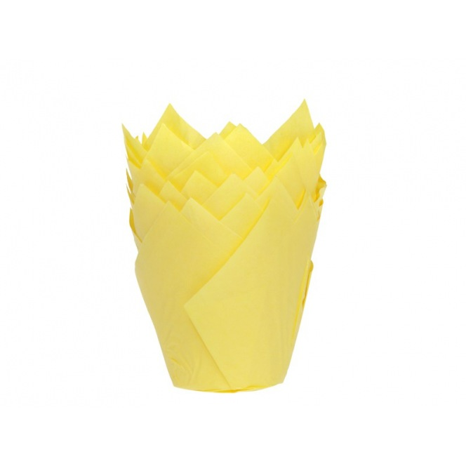 Tulip Baking Cups Yellow pk/36