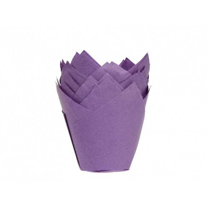 Tulip Baking Cups Purple pk/36