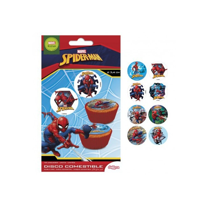 Edible Spiderman Decoration 16pc