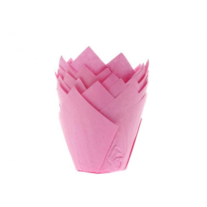 Tulip Baking Cups Pink pk/36