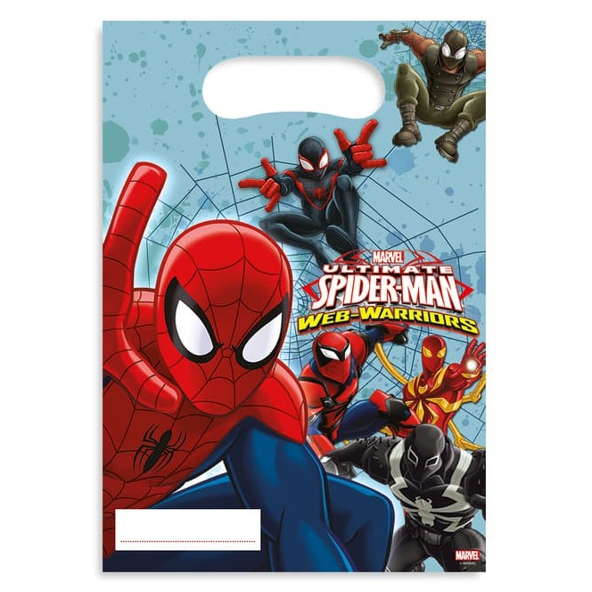 6 Party Bags Spiderman