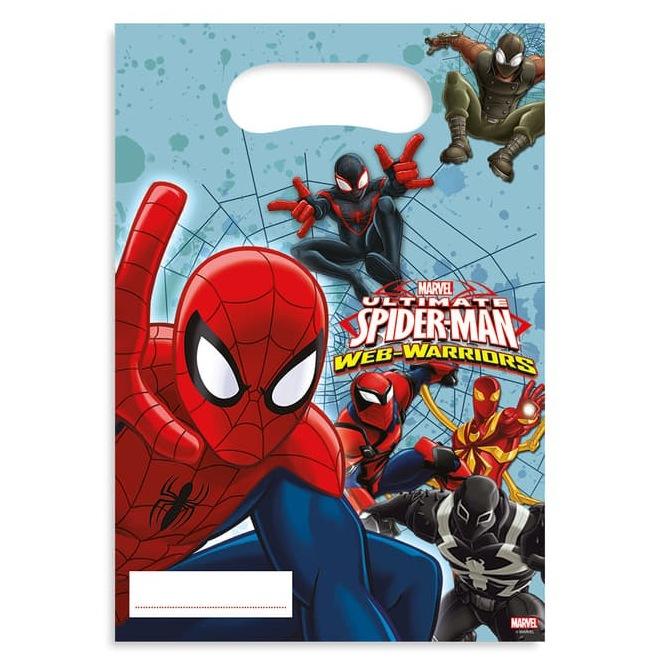 6 sachets surprises Spiderman