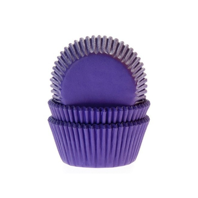 House of Marie Baking Cups Purple pk/50