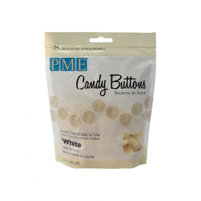 Candy Buttons - White vanilla - PME - 340g