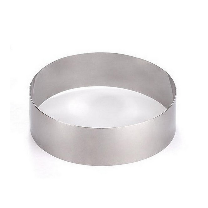 Cake Ring Stainless Steel dia22 x h 4,5cm Decora