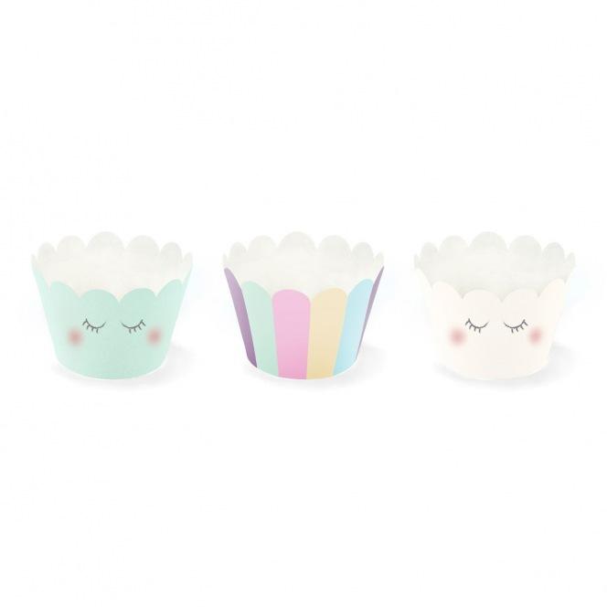 Caissettes décors à cupcakes - Licorne