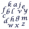 Alphabet tappits Lower Case SCRIPT- FMM