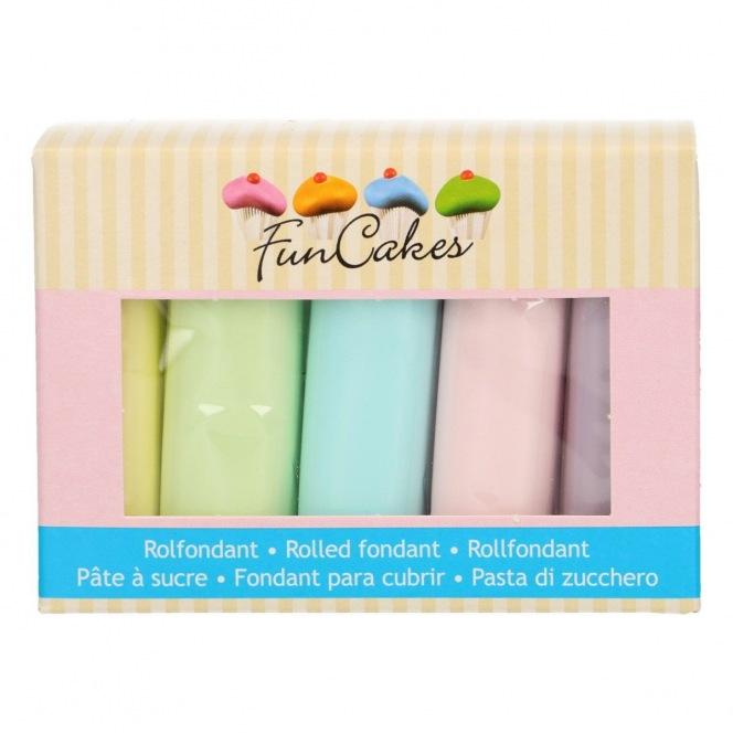 FunCakes Fondant Multipack Pastel Colour Palette 5x100g