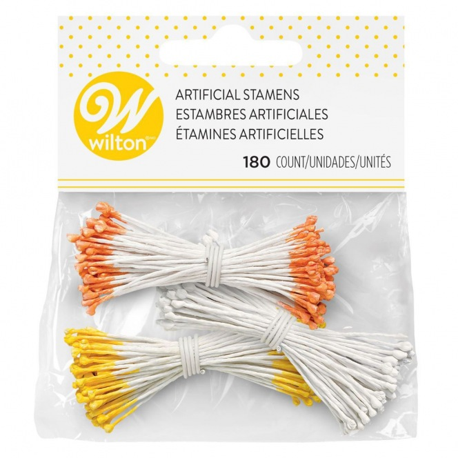 Lots de 180 étamines artificielles- Blanc - Wilton