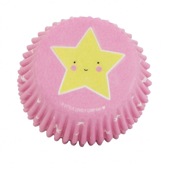 Baking Cups - Pink with Stars 50pcs