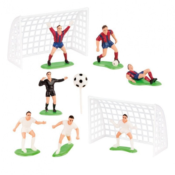 Dekora - Football Plastic Cake Decorating Kit - 5/6cm