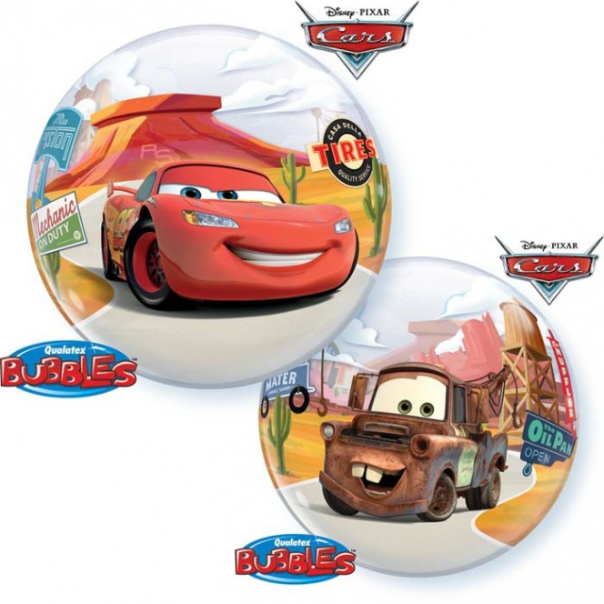 Birthday Cars Balloon Bubble