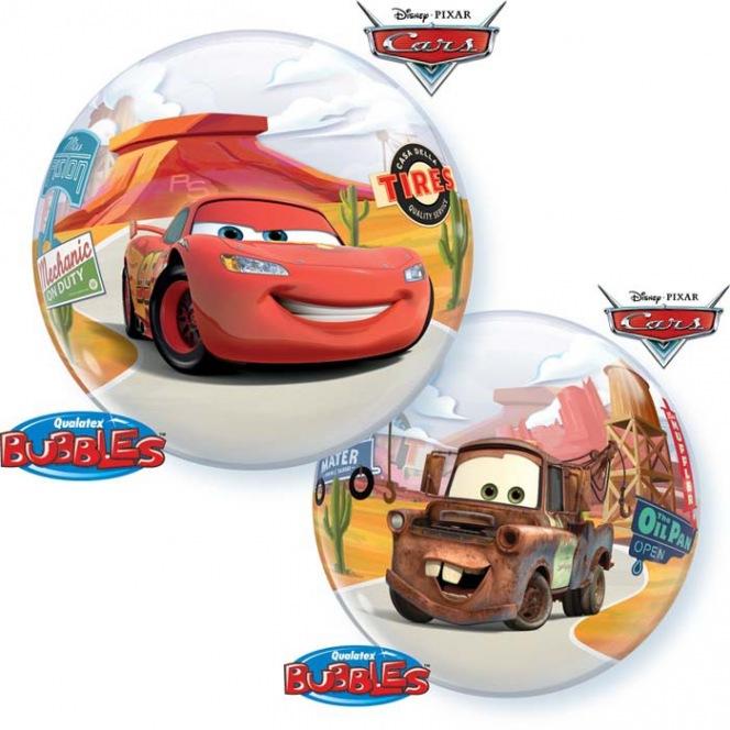 Birthday Cars Balloon Bubble