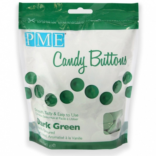 Candy Buttons - Dark Green - PME - 340g