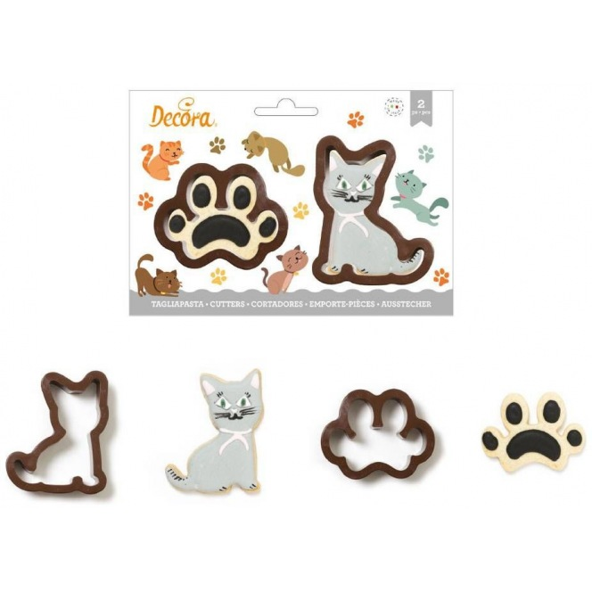 Decora - Footprint & Cat Cutters - 2 Pcs