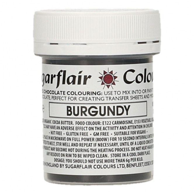 Sugarflair - Chocolate Colouring - Burgundy