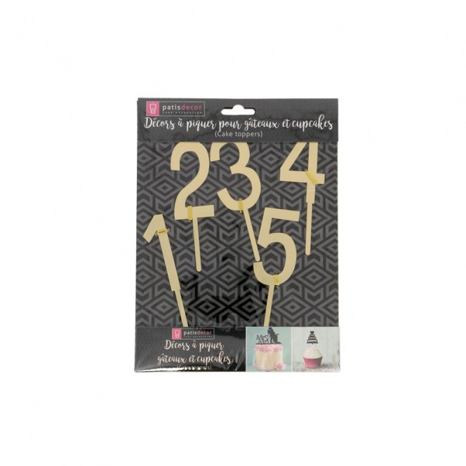 Patisdecor - Cake Topper - Golden Numbers