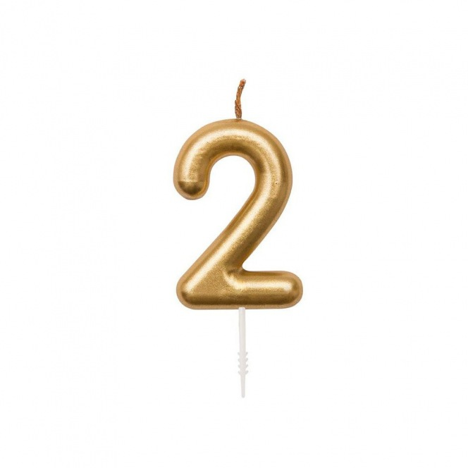 Rico Design Yey - Anniversary Candle - Golden n2