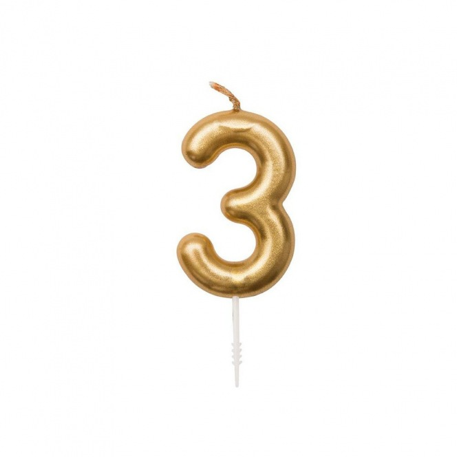 Rico Design Yey - Anniversary Candle - Golden n3