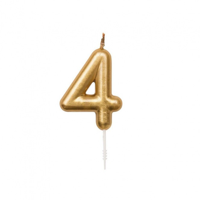 Birthday Candle - Golden n4 - Rico Design Yey
