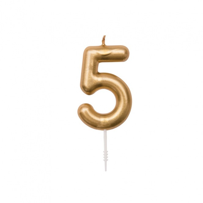 Rico Design Yey - Anniversary Candle - Golden n5
