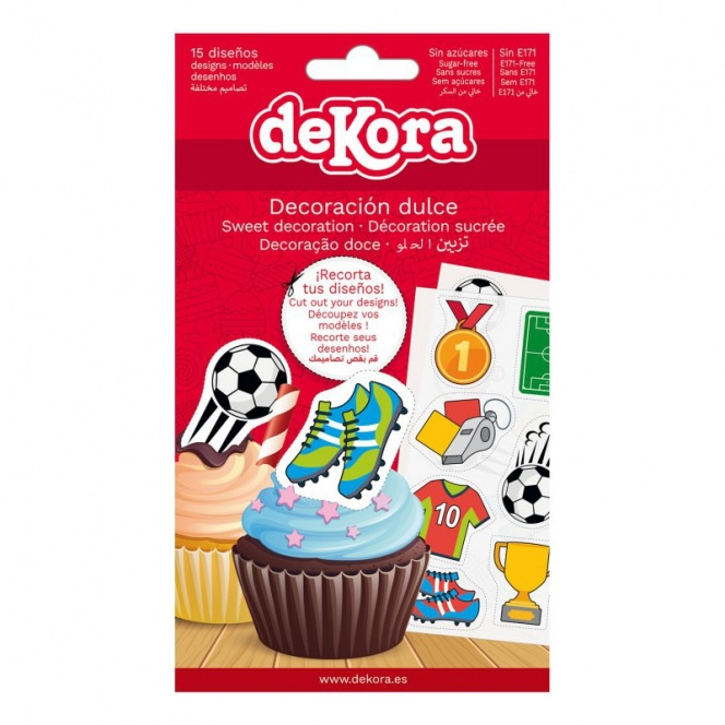 Dekora - 15 Edible decorations - Football