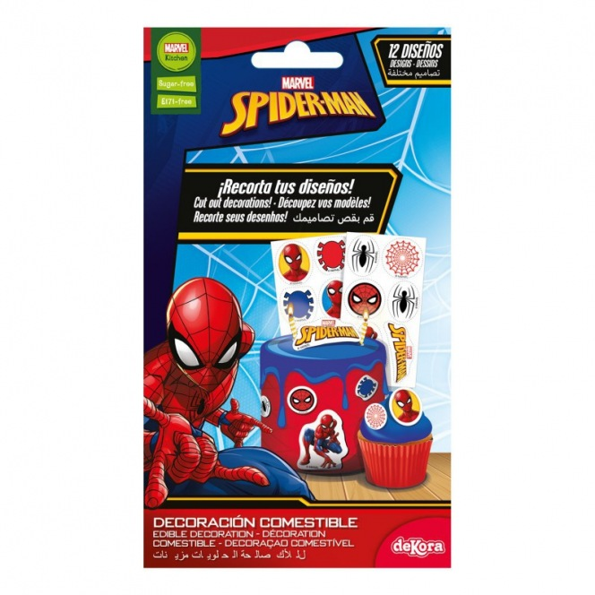 Dekora - 12 Edible decorations - Spiderman