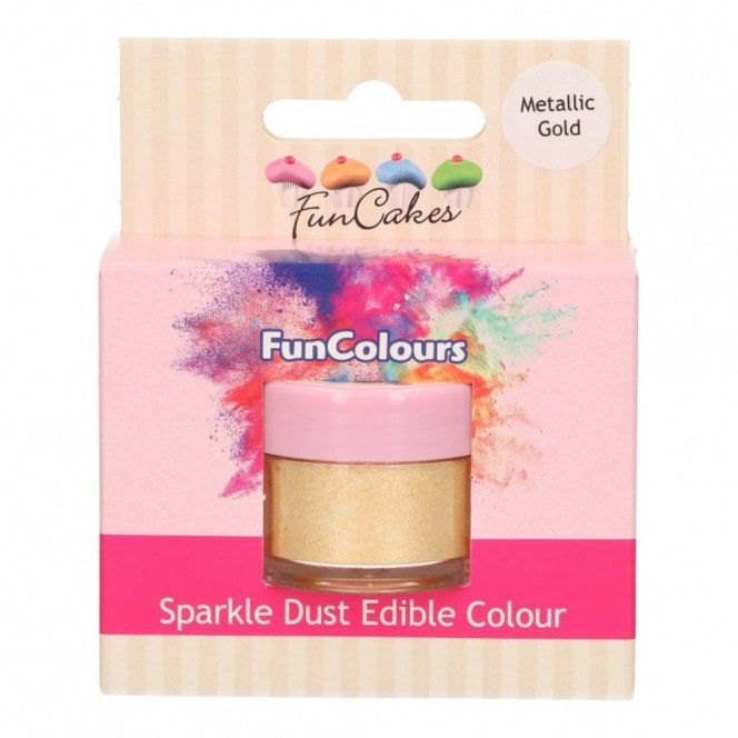 Edible FunColours Sparkle Dust - Metallic Gold - Funcakes