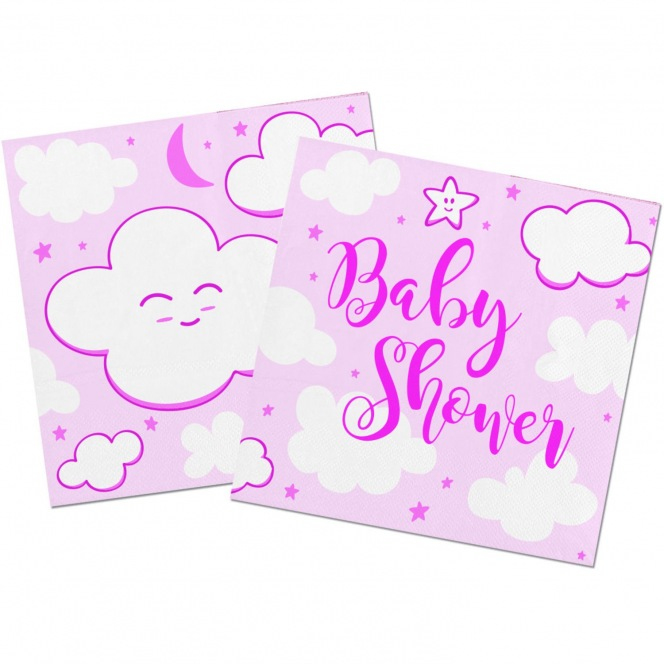 Baby Shower Napkins - Pink/20pcs - Folat