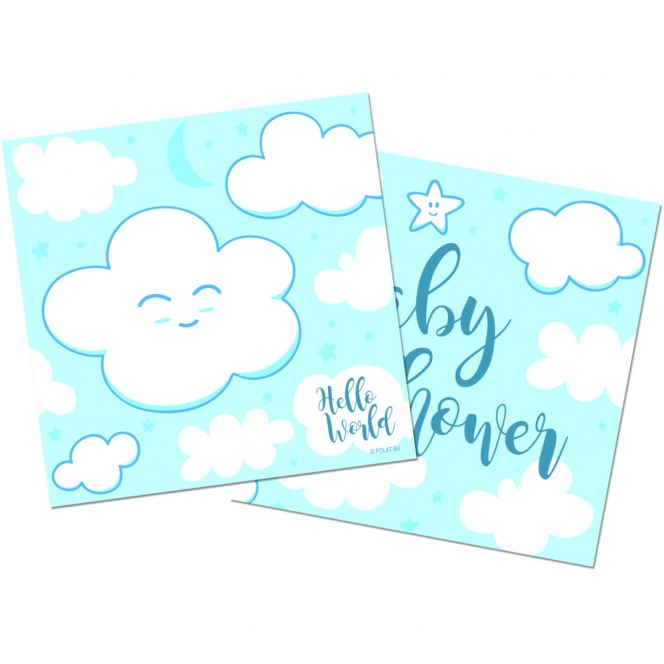 Baby Shower Napkins - Blue/20pcs - Folat