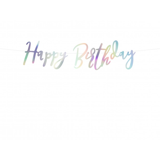 Banner iridescent - Happy Birthday - PartyDeco