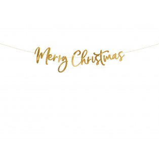 Banner Merry Christmas - Gold - PartyDeco