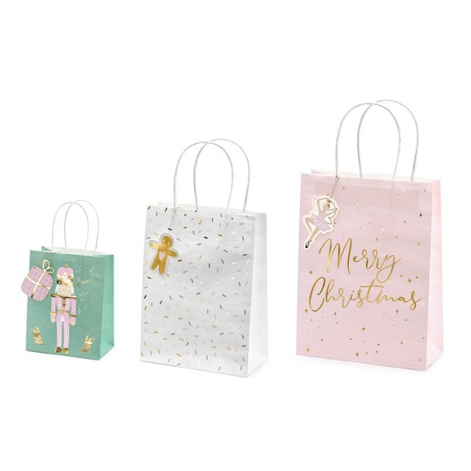 Christmas gift bags - 3 pc - Partydeco