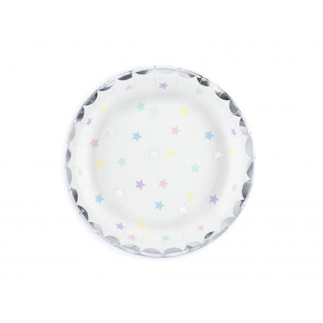 6 Plates Unicorn - Stars - PartyDeco