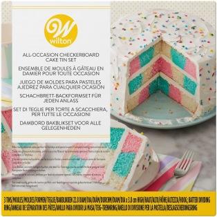 Checkerboard Cake- Wilton  Set/3