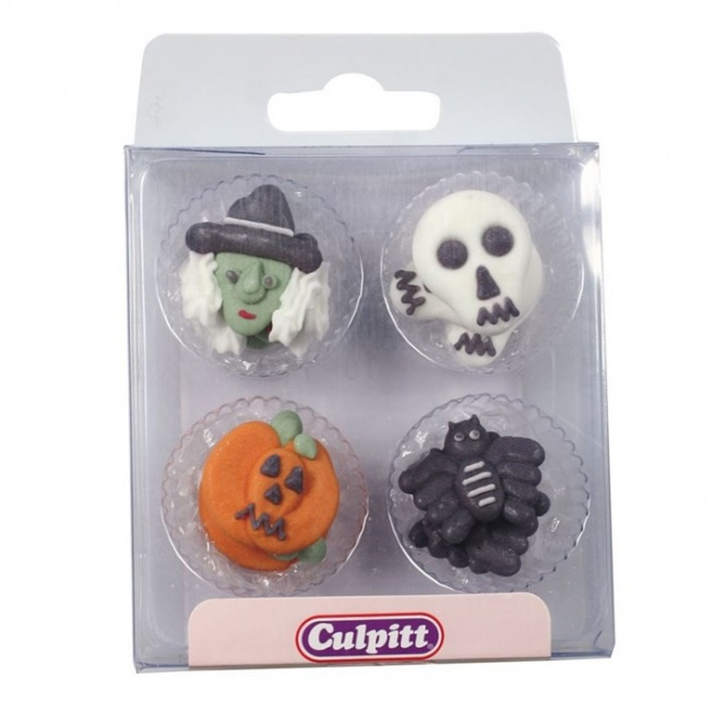 Halloween Sugar Decorations - 12pc- Culpitt