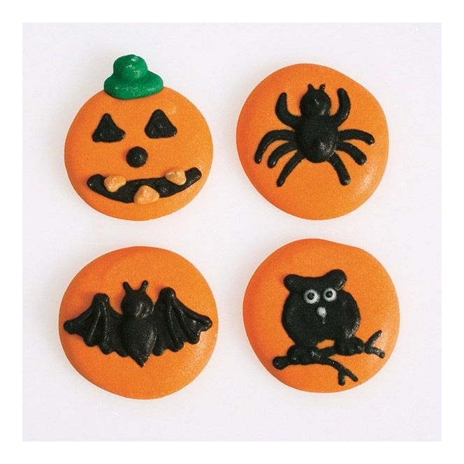 Halloween 4 designs Sugar Decorations - 12pc- Culpitt