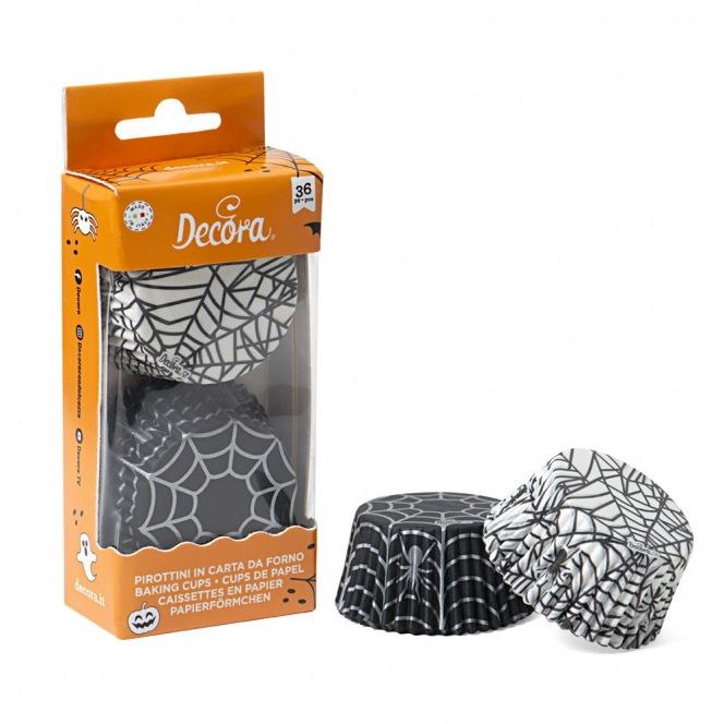 Baking Cups - Spider Web - 36pcs -Decora
