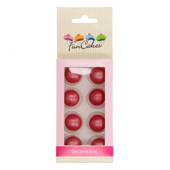 Pearl Choco Balls x8 - Dark Pink - Funcakes