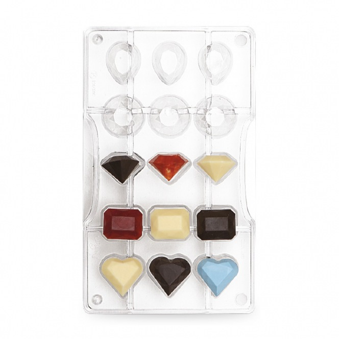 Chocolate mold - Gem / 15pcs - Decora