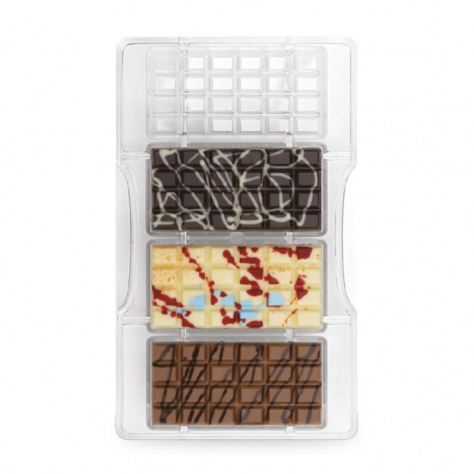 Chocolate mold - The Classic Bar / 4pcs - Decora