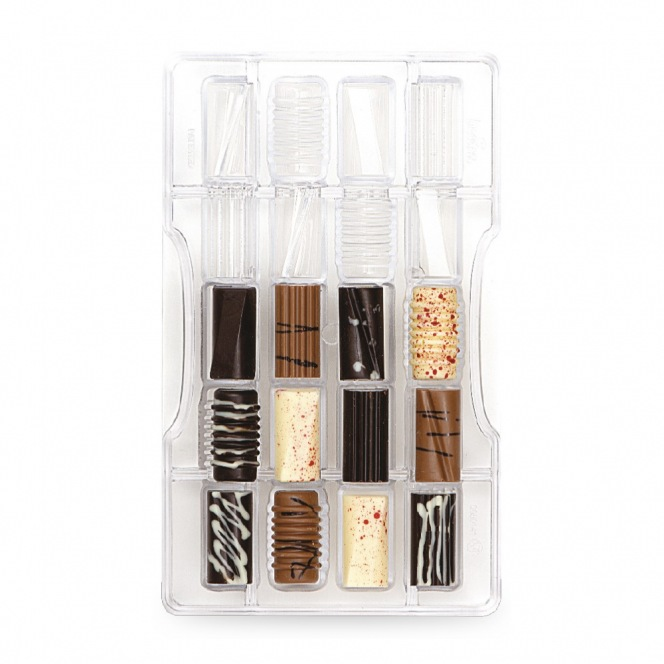 Chocolate mold - Cylinders / 20pcs - Decora