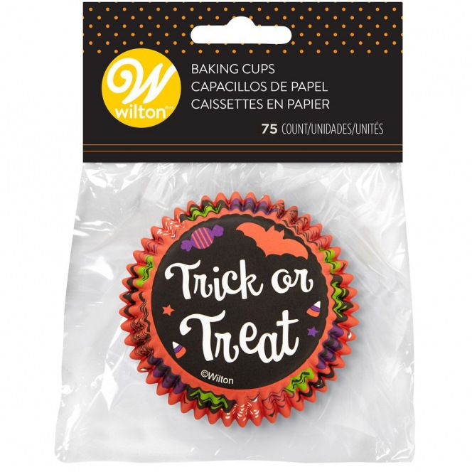 "75 Baking Cups ""Trick or Treat"" - Wilton"