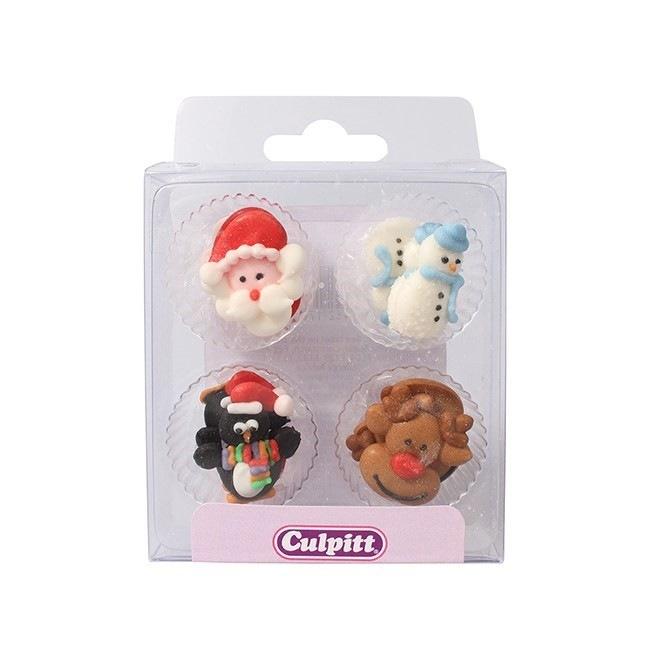 Christmas Friends Sugar Pipings - 12pc - Culpitt