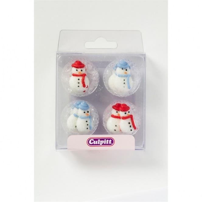 Snowmen Sugar Pipings - 12pc - Culpitt