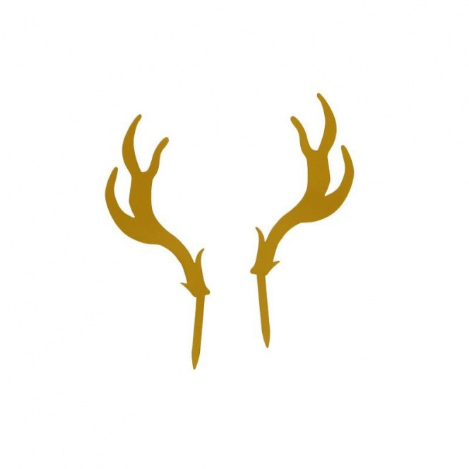 Cake topper - Golden Deer - Patisdecor