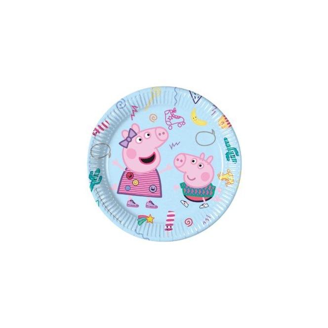 Paper Plates x8 - Peppa Pig - Procos