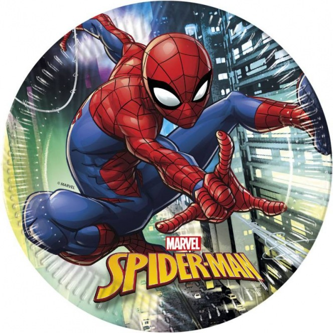 8 paper plates - Spiderman