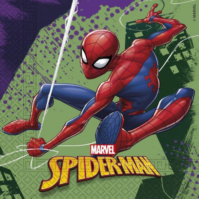20 Napkins - Spiderman Team Up