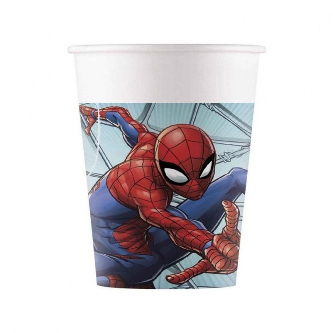 8 Plastic Cups - Spiderman Team Up